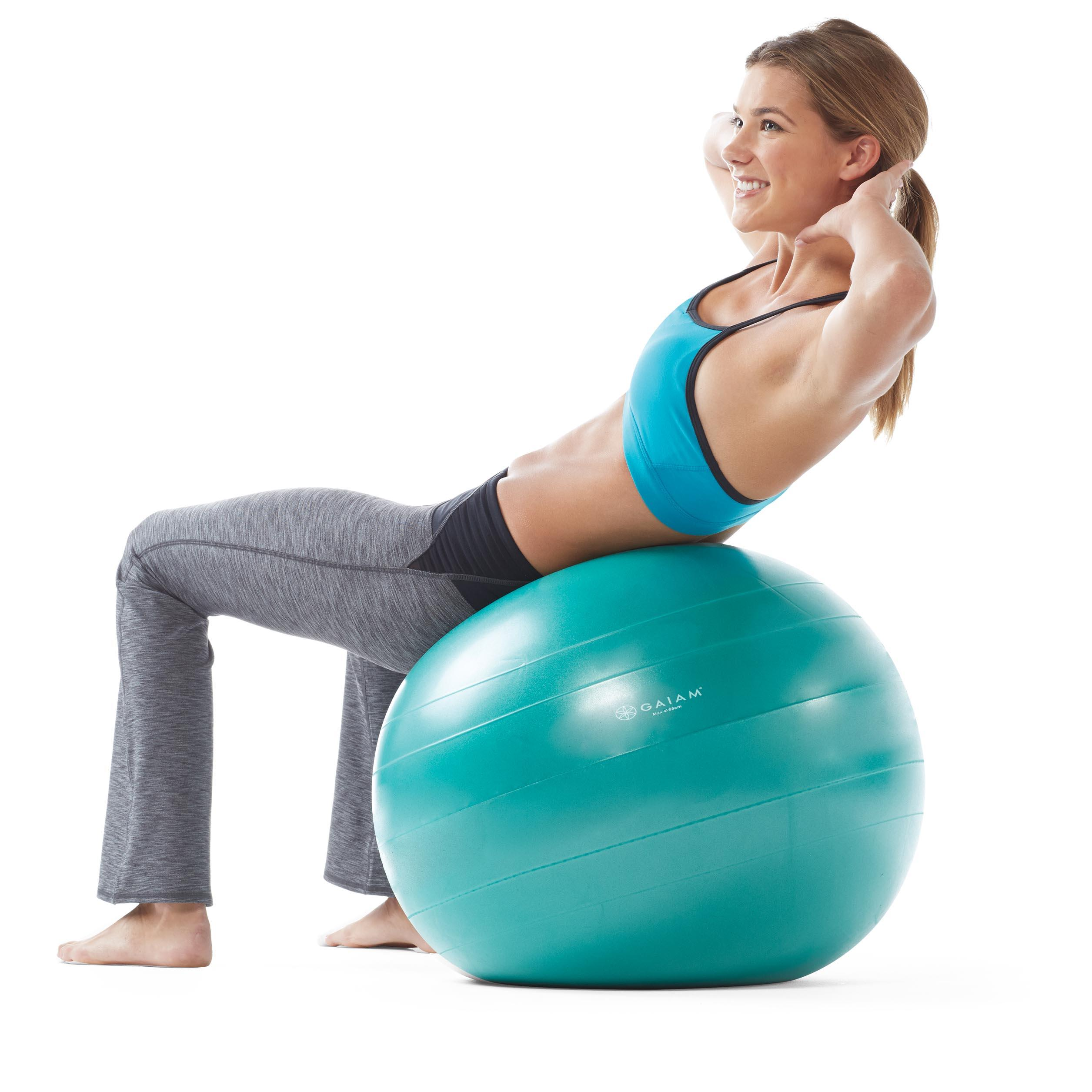 Balance Ball Dvd: Amazon.com : Gaiam Total Body Balance Ball Kit
