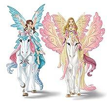 Schleich Bayala Eyela mit Prinzessinnen-Einhorn Prinzessin Elfe Elfenwelt Figur