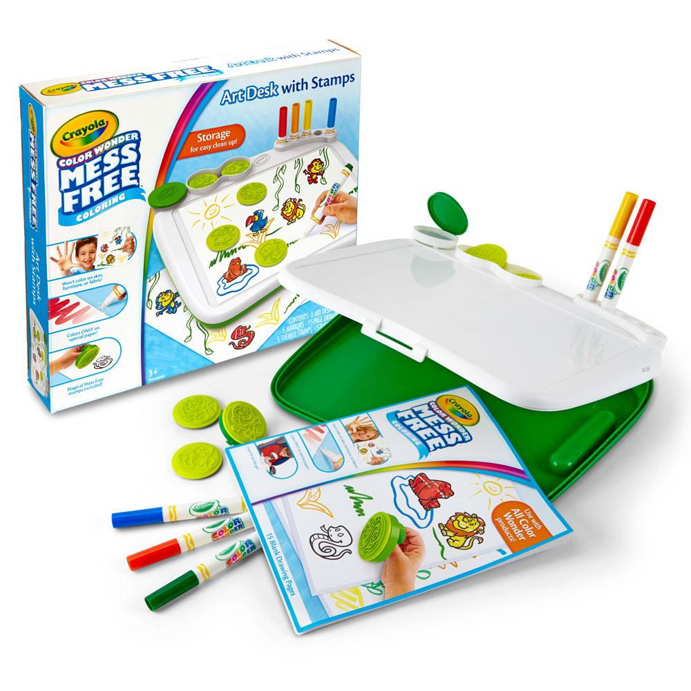 Crayola Color Wonder Mess Free Coloring Art Desk With