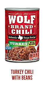 Wolf Brand Canned Turkey Chili with Beans