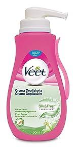 Veet Crema Depilatoria Corporal para Mujer con Aloe Vera y Vitamina E, Pieles sensibles, 200 ml (106180): Amazon.es