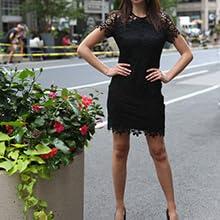 knit short little black dress scoop neck slim modern contemporary dress city wardrobe ootd