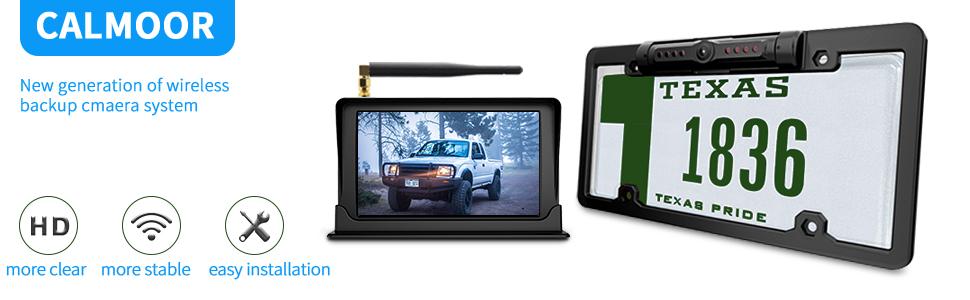 SAMFIWI Wireless Backup Camera System kit with Digital Signal 5in 720P HD TFT-LCD Monitor for Sedans SUV Pickup Truck Minivans