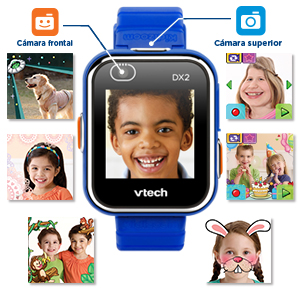 VTech 3480-193822 Kidizoom Smart Watch DX2 - Reloj inteligente para niños con doble cámara, color azul