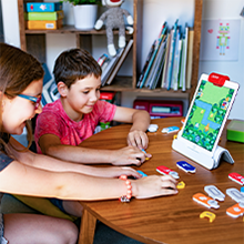 Ability to play Osmo games coding with friends or on your own assemble sequences patterns learn
