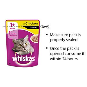 Whiskas gravy storage instructions