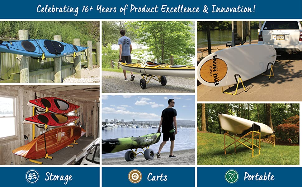 suspenz kayak canoe sup storage transport carts portable stands