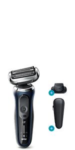 Braun Series 7 70-B1200s - Afeitadora Eléctrica, máquina de afeitar barba hombre de Lámina, con Recortadora de Precisión, Uso en Seco y Mojado, Recargable, Inalámbrica, Azul: Amazon.es: Salud y cuidado personal