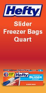 Hefty Slider Freezer Bags Quart