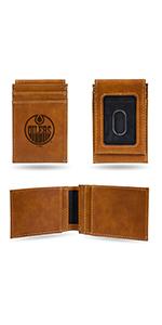 wallet,mens wallet,wallet for women,wallet for men,leather wallet,NHL,Oilers,Edmonton Oilers