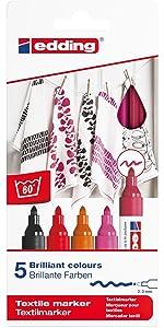 Edding 4500 Textilmarker   5er Set   Standard Farben · Edding 4500  Textilmarker   5er Set   Warme Farben · Edding 4500 Textilmarker   5er Set    Kalte Farben ...