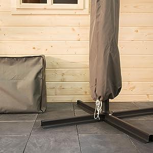 ultranatura sonnenschirm schutzh lle wasserdichte h lle f r schirme schirmh lle. Black Bedroom Furniture Sets. Home Design Ideas