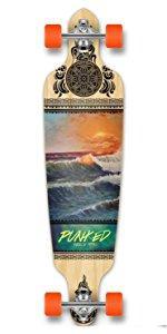 drop through longboard complete skateboard skate cruiser