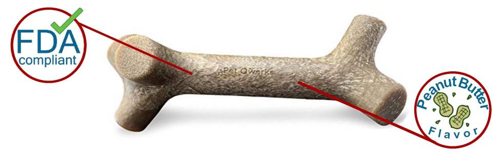 pet qwerks stick dog chew toy
