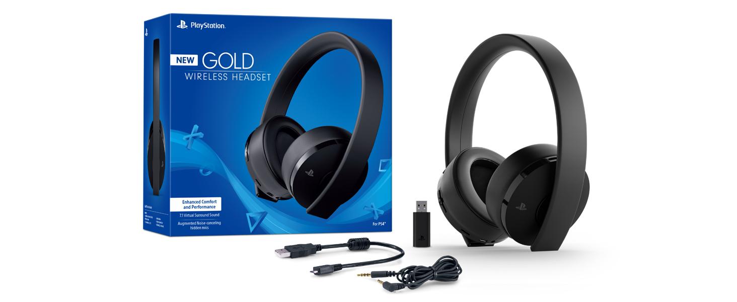 playstation gold wireless headset. Black Bedroom Furniture Sets. Home Design Ideas