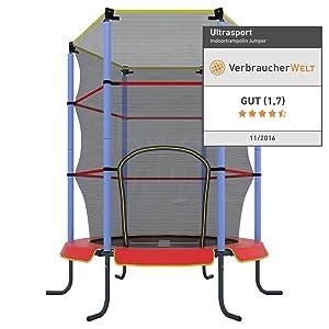 ultrasport kinder indoor trampolin jumper 140 cm spa. Black Bedroom Furniture Sets. Home Design Ideas