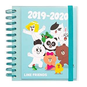 Agenda escolar 2019/2020 día página M Line Friends