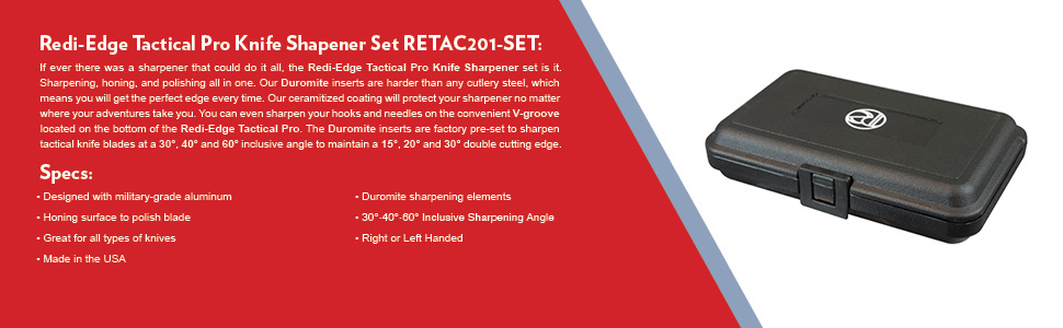 Redi-Edge Tactical Pro Knife Shapener Set RETAC201-SET