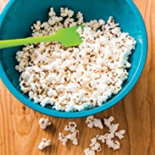 making popcorn