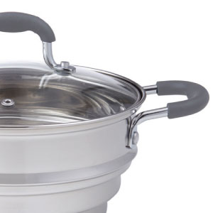Davis & Waddell; kitchenware; cookware; cooking; steamer; steaming; stainless steel
