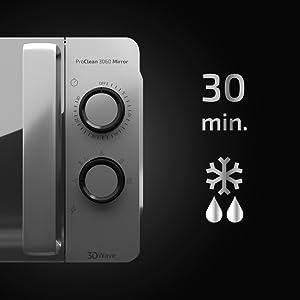 Cecotec ProClean 3060 - Microondas Plateado Mirror y con ...