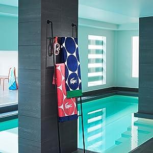 22x34 Lacoste Croc Tub Mat White 22x34 Sunham Home Fashions T13593N012234 900 GSM 100/% Cotton