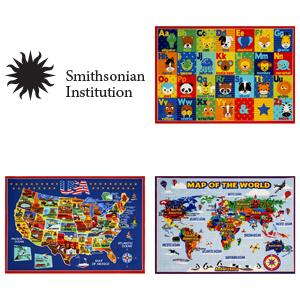 Amazon Com Smithsonian Rug World Map Learning Carpets