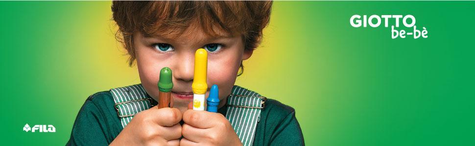 giotto; colori per bambini; pennarelli; pastelli; lavabili; prodotti sicuri