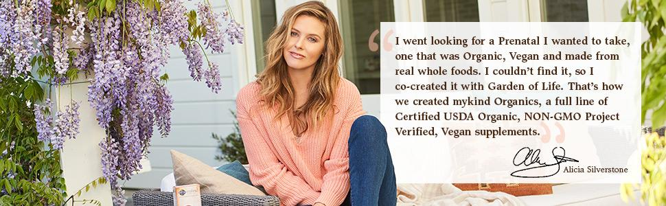 Alicia Silverstone mykind Organics healthy women