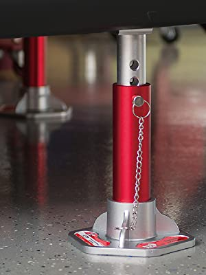 Torin BIG RED Aluminum Jack Stands with Locking Pins: 3 Ton (6,000 lb) Capacity, Red/Silver, 1 Pair