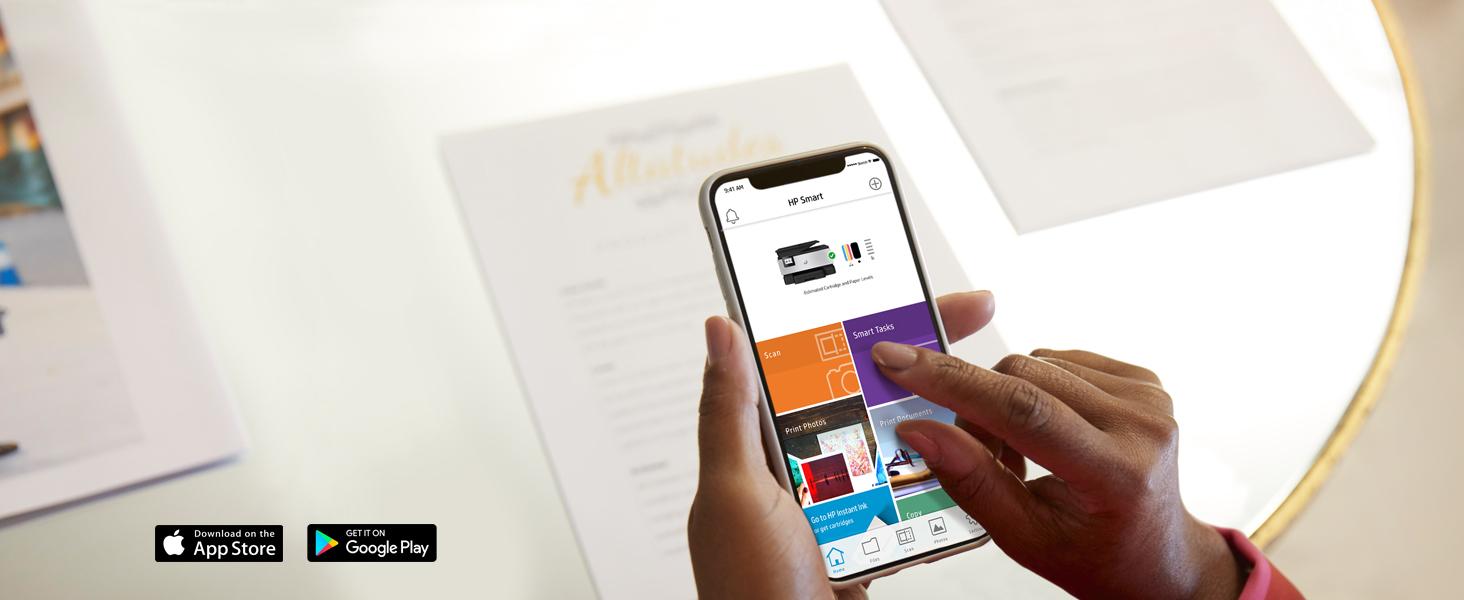 smart tasks hp smart app home screen