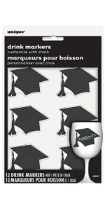 Congrats Grad The Tassel Was Worth the Hassle 25 Graduation Tags Chalkboard THICK /& STURDY Black /& White
