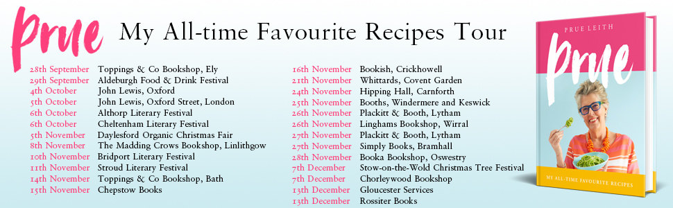 Prue Leith Favourite Recipes Cookery Food Great British Bake Off GBBO Delicious Classic Foolproof