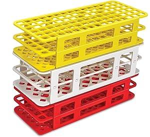 Fold Snap Tube Rack Heathrow Scientific Economical Polypropylene Autoclavable stand holder lab test