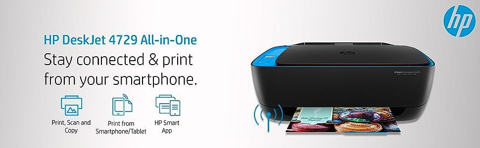 HP DeskJet 4729 All-in-One Ultra Ink Advantage Wireless Colour Printer
