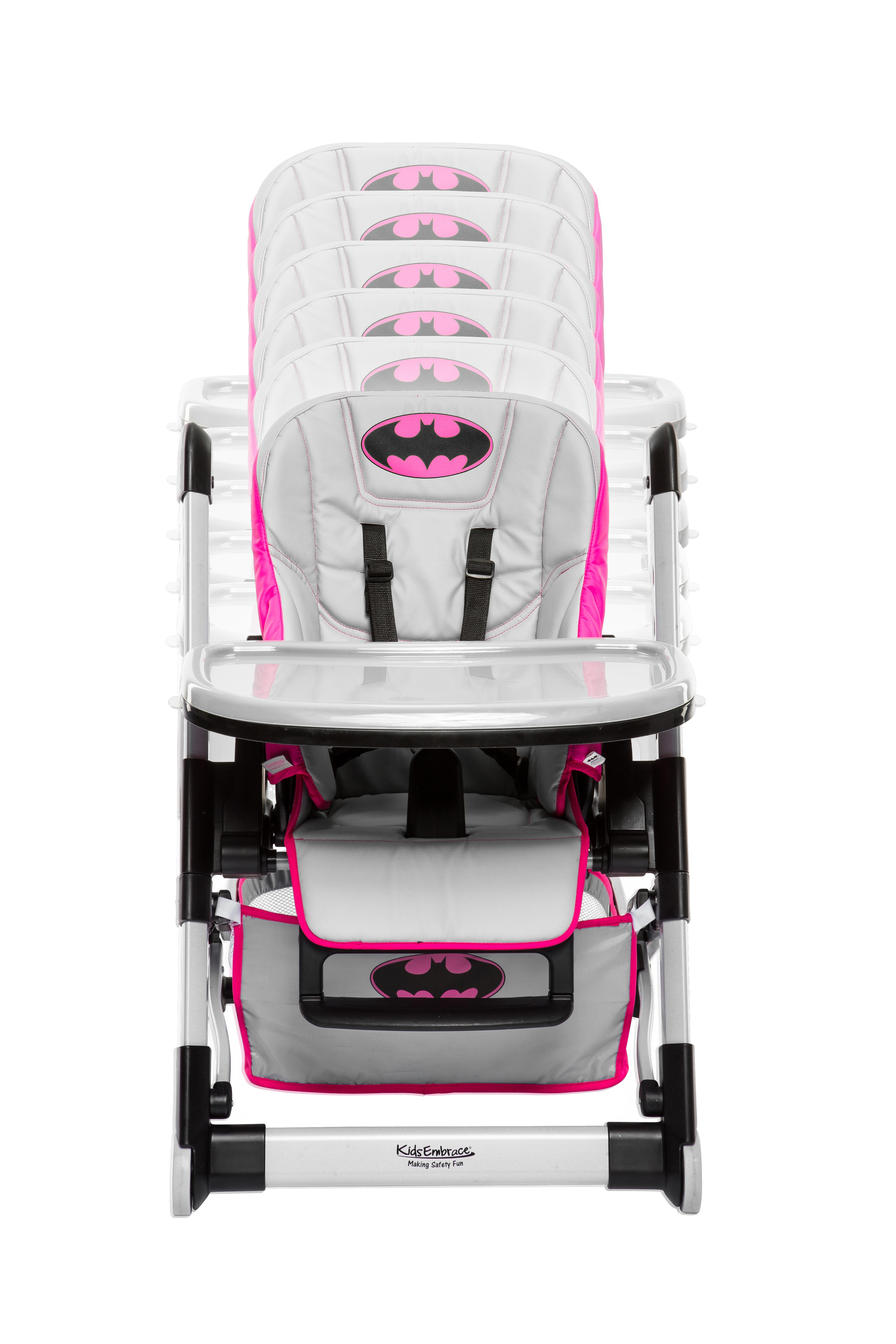 wb kidsembrace batgirl deluxe high chair baby. Black Bedroom Furniture Sets. Home Design Ideas