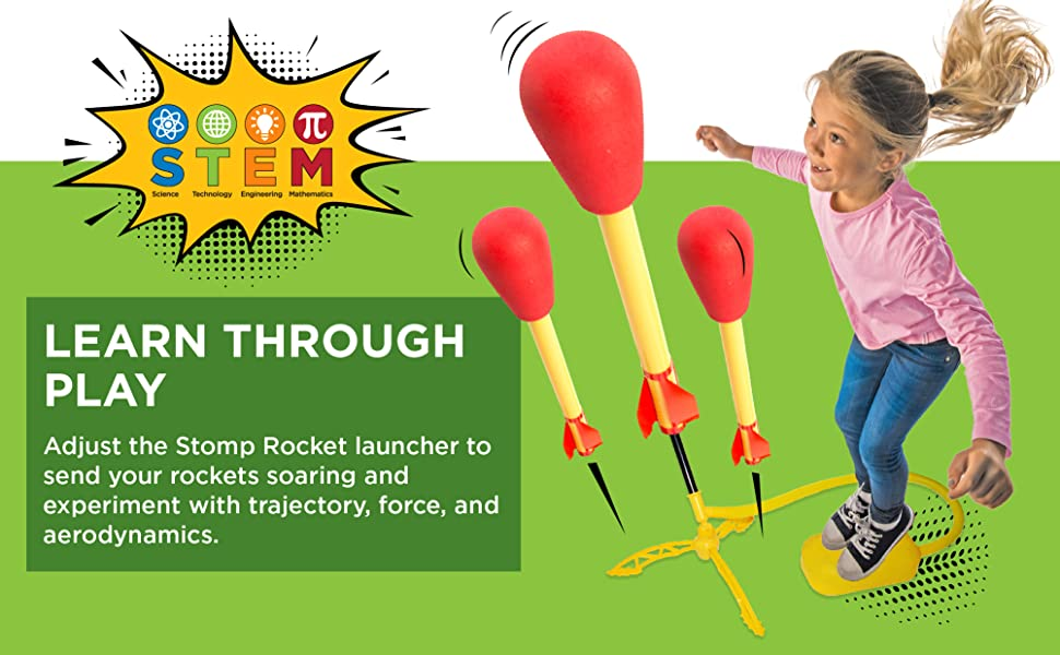 stomprocket blast off shoots to 100 feet year round active play outdoor indoor STEM fun kid powered