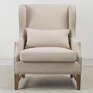 Brilliant Tov Furniture Devon Linen Wing Chair Ibusinesslaw Wood Chair Design Ideas Ibusinesslaworg