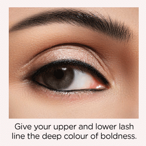 Give your upper and lower lash line the deep colour of boldness.