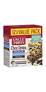 uncle tobys muesli bars snack value pack choc faves