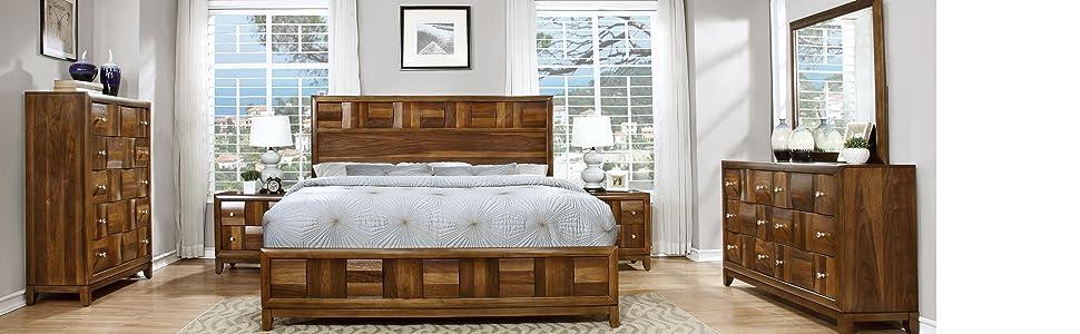 Amazon.com: Roundhill Furniture Calais Solid Wood Construction ...