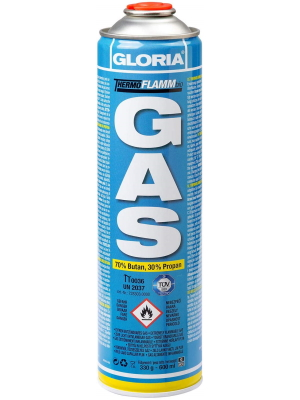 GLORIA Thermoflamm Cartucho de Gas - hasta 2 Horas de combustión para herbicidas, Estufas de Camping y quemadores de Gas, 70% de butano, 30% de ...