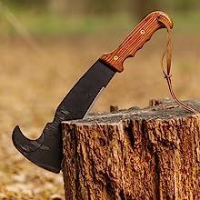 Woodmans pal machete axe survival tool kindling fire starter brush management clearing land tool