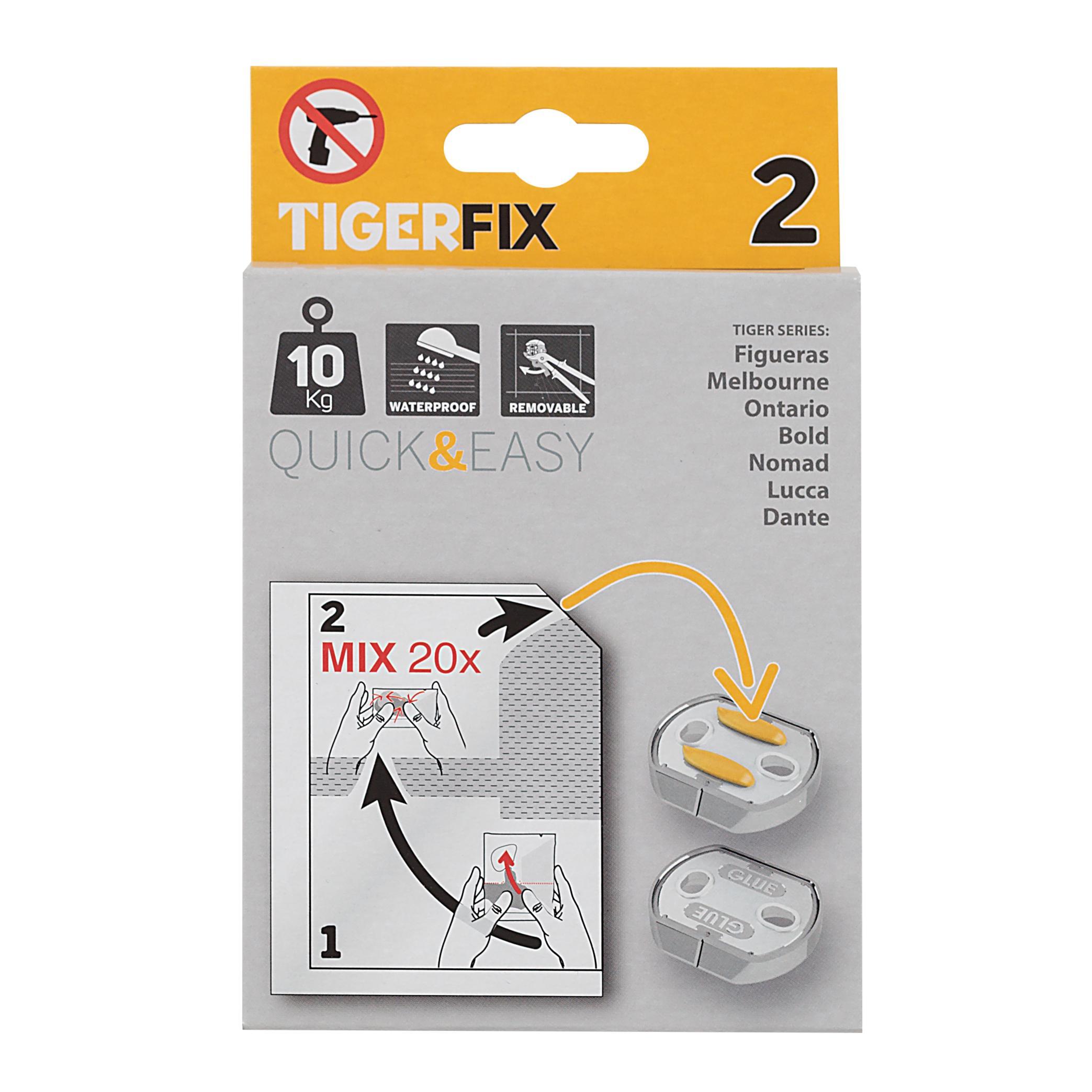 tiger tigerfix klebesystem nummer 2 f r tiger ausstattungsserien 2 einheiten zur montage ohne. Black Bedroom Furniture Sets. Home Design Ideas