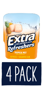 EXTRA Refreshers Tropical Mist Chewing Gum