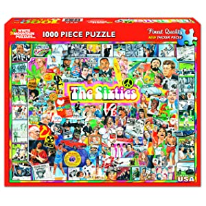 Puzzle with icons from teh 60s