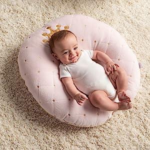 boppy, princess, newborn lounger, baby