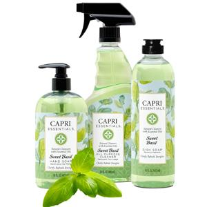 natural cleaners, sweet basil, essential oils, safe cleaners, aromatherapy, soap