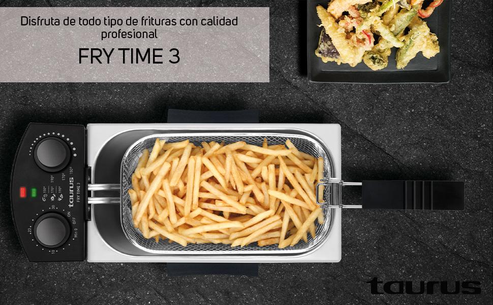 Taurus Fry 3 Freidora potente de 3 litros con resistencia ...