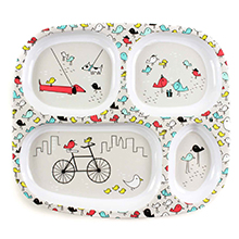 bumkins melamine divided kids plate